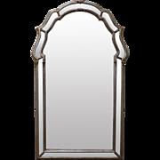 LaBarge Italian Silver Gilt Hanging Wall Mirror