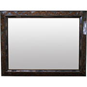 Vintage Italian Eglomise Gold Painted Frame Hanging Wall Mirror