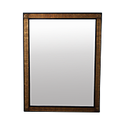 Vintage Black & Gold Greek Key Design Wood Frame Hanging Wall Mirror