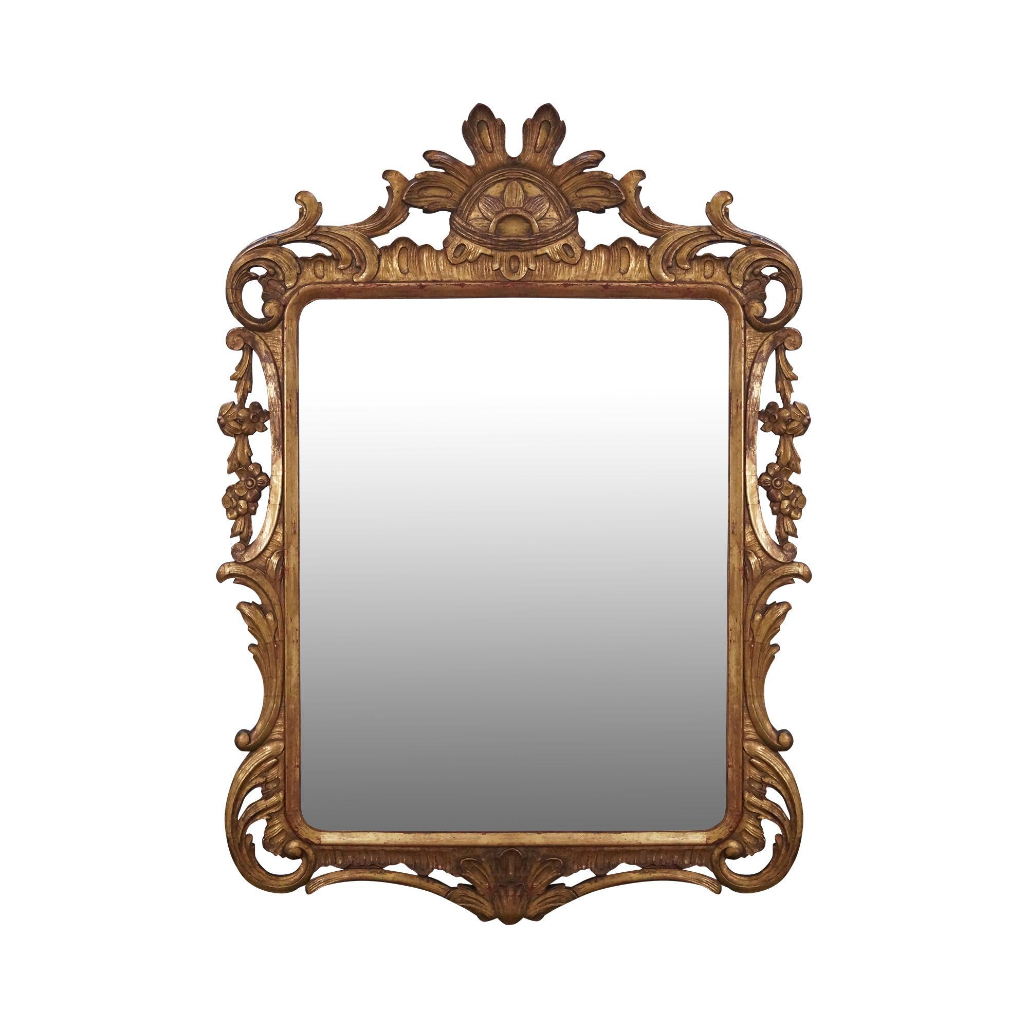 Vintage french louis xv style gold gilt carved wood frame for Mirror frame styles