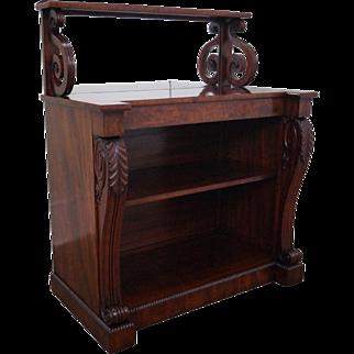 Antique 19th Century English Regency Style Mahogany Bookcase Server