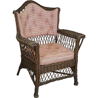 Haywood Wakefield Antique Wicker Arm Chair