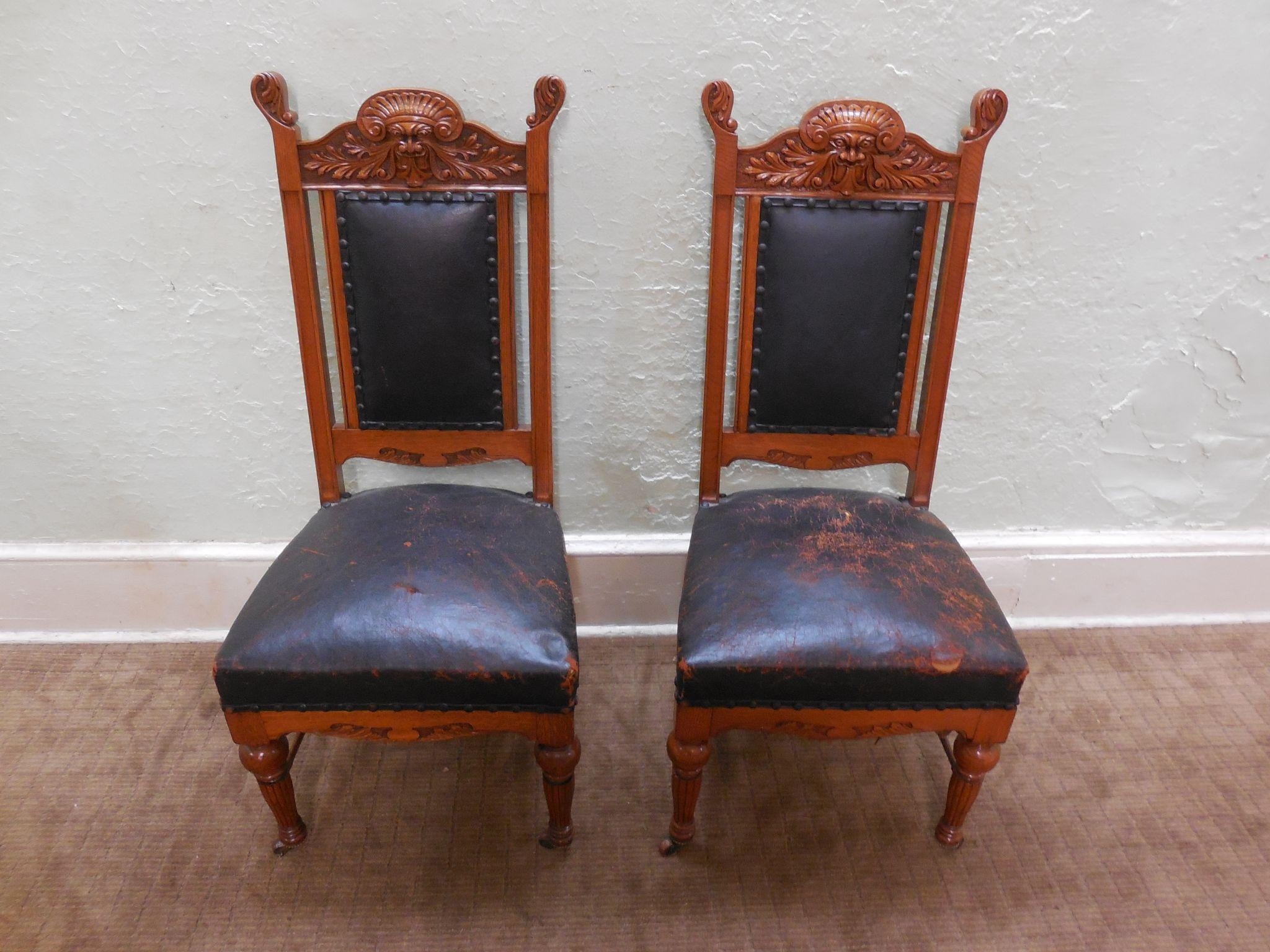 Antique victorian dining chairs - Good Hastings Antique Set Of Honey Oak Northwind Carved Victorian With Victorian Dining Chairs