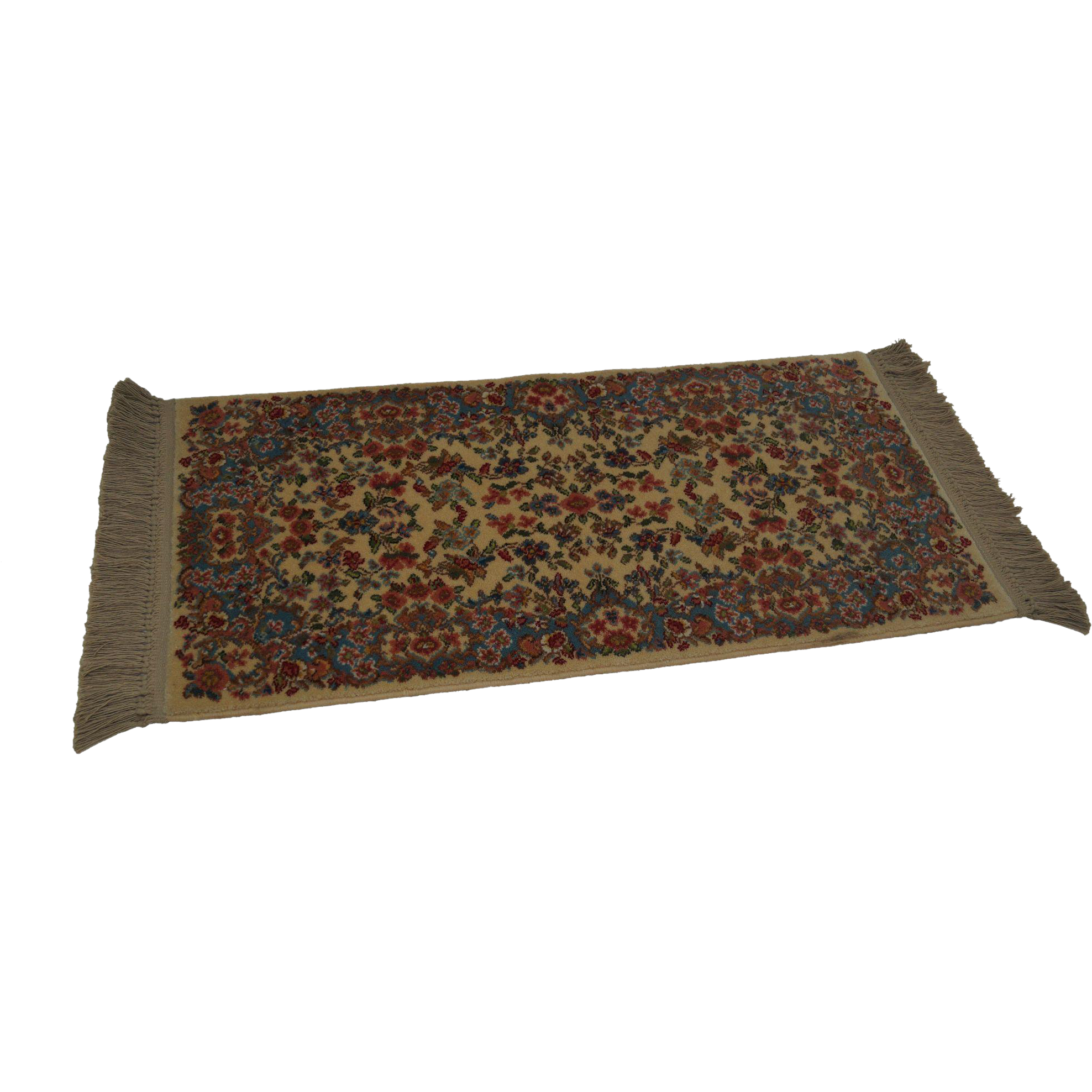 Karastan ivory kirman 788 area throw rug carpet for Throw rug on top of carpet