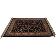 Karastan Black Kashan 700/796 4'3x6' Area Rug Carpet