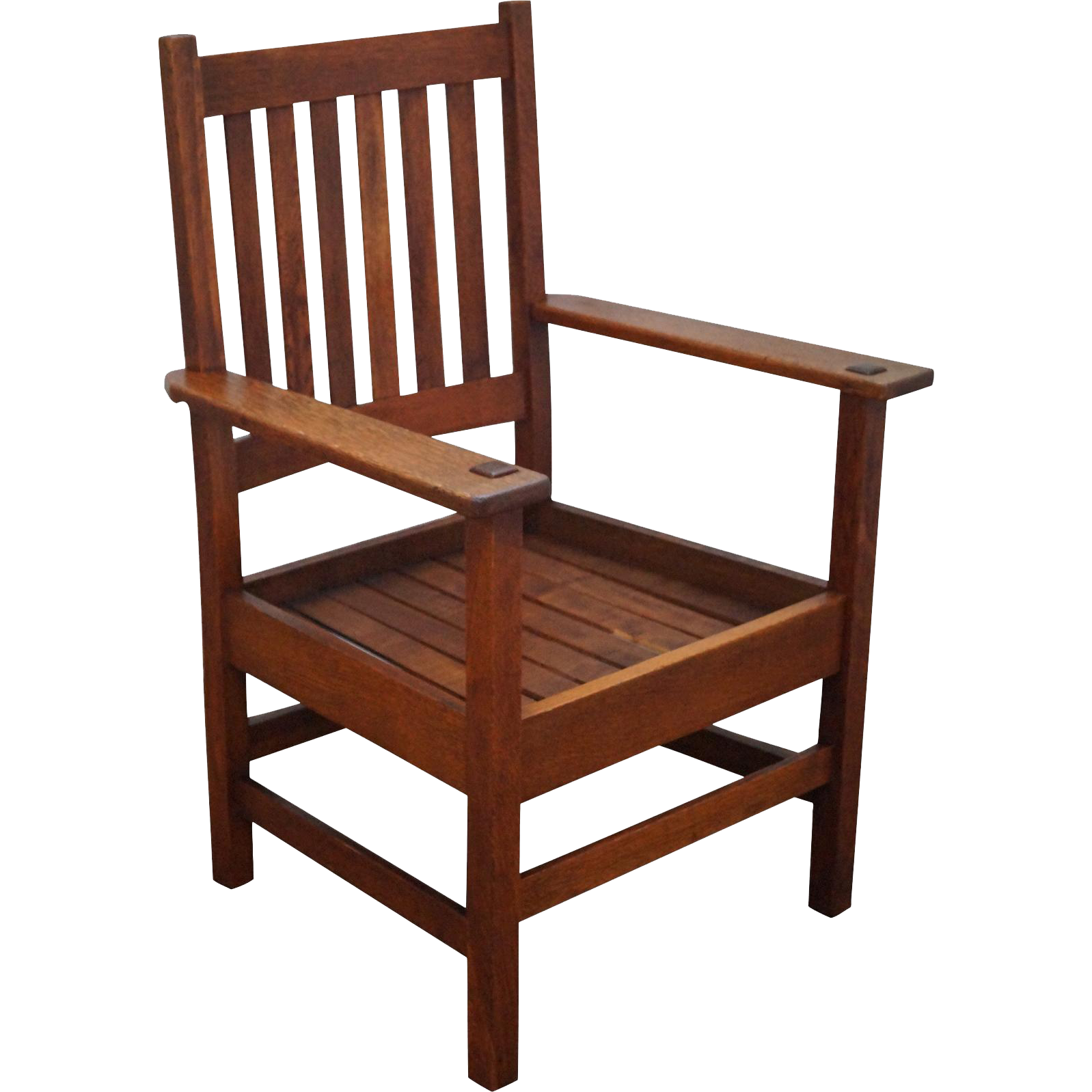 Quaint stickley antique mission oak arm chair from bucks for Armchair furniture