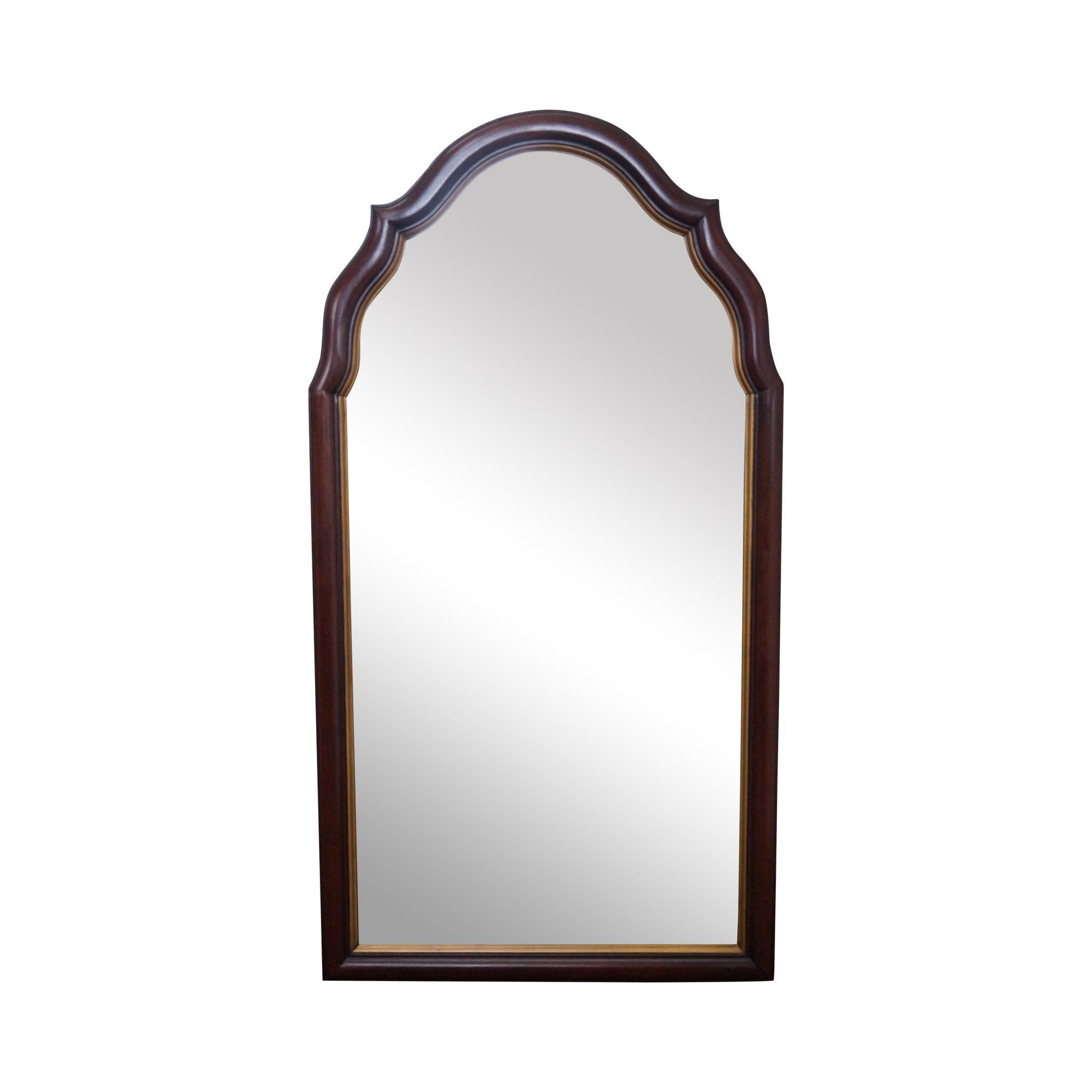 Arch Wall Mirror statton old towne solid cherry arch top hanging wall mirror from