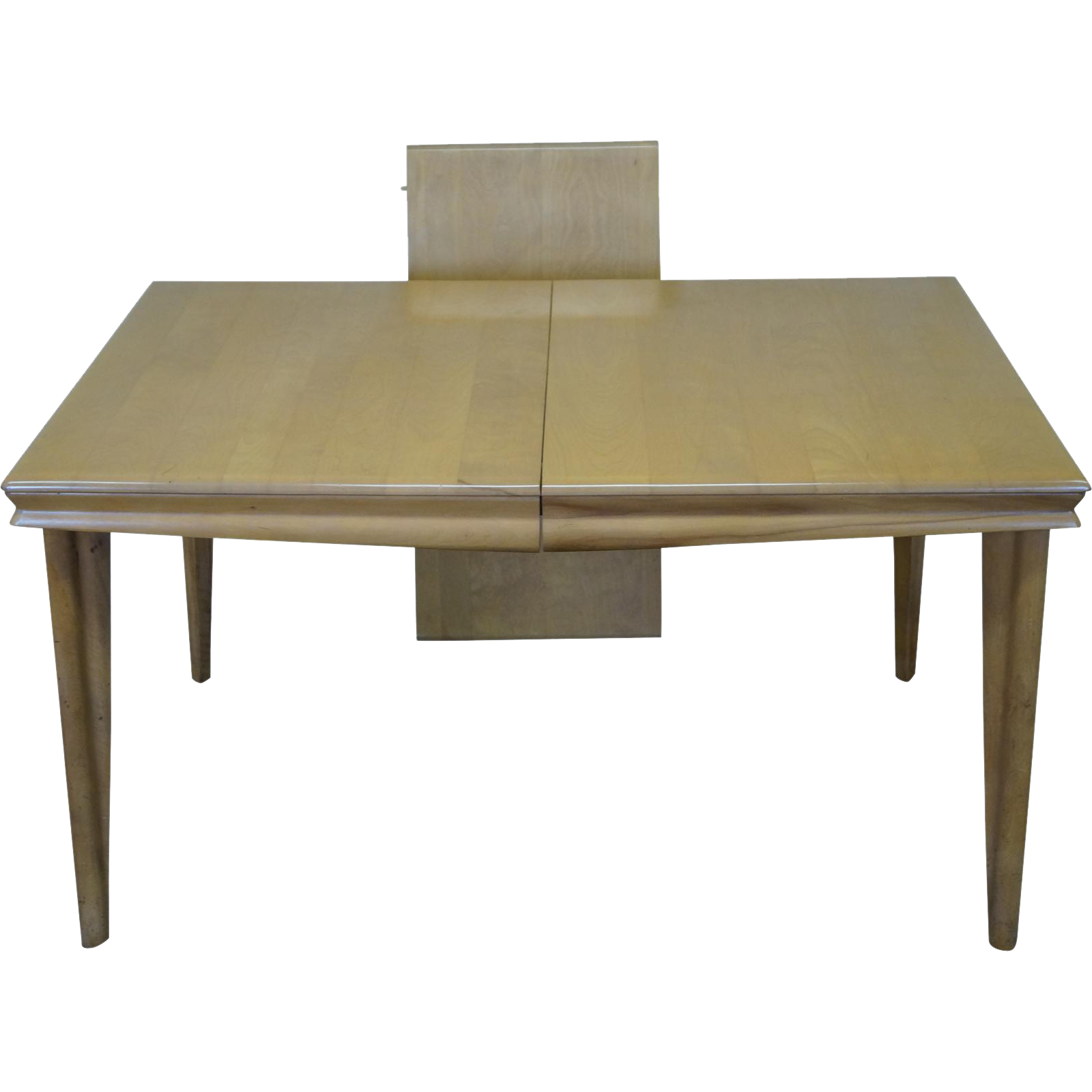 heywood wakefield champagne mid century solid maple dining table from