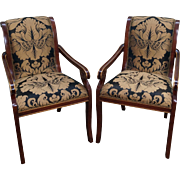 Quality Regency Style Pair of Arm Chairs (A)