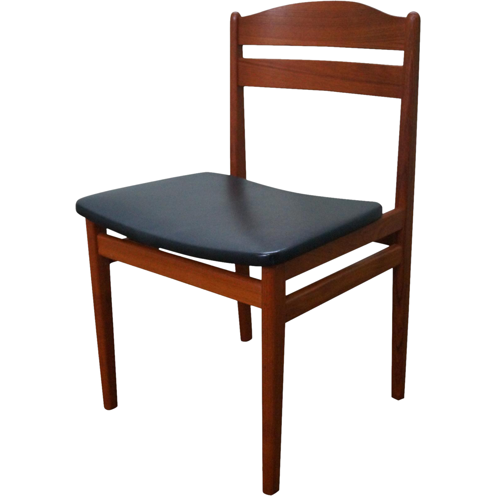danish modern teak side chair from bucks county estate traders on ruby