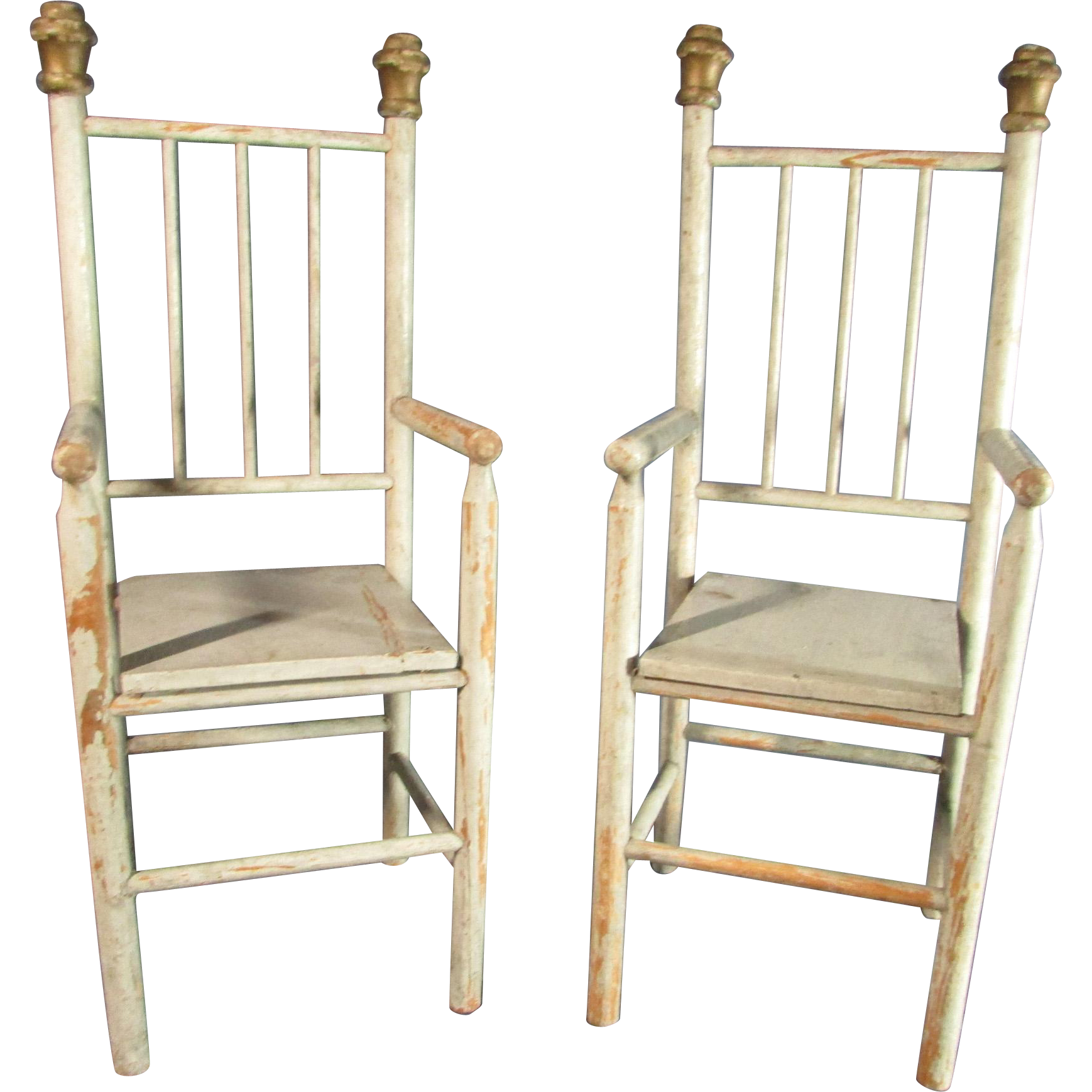 Two Wonderful Matching Antique Wooden Doll Arm Chairs From Laurel Ks . Full resolution  photograph, nominally Width 1738 Height 1738 pixels, photograph with #946337.