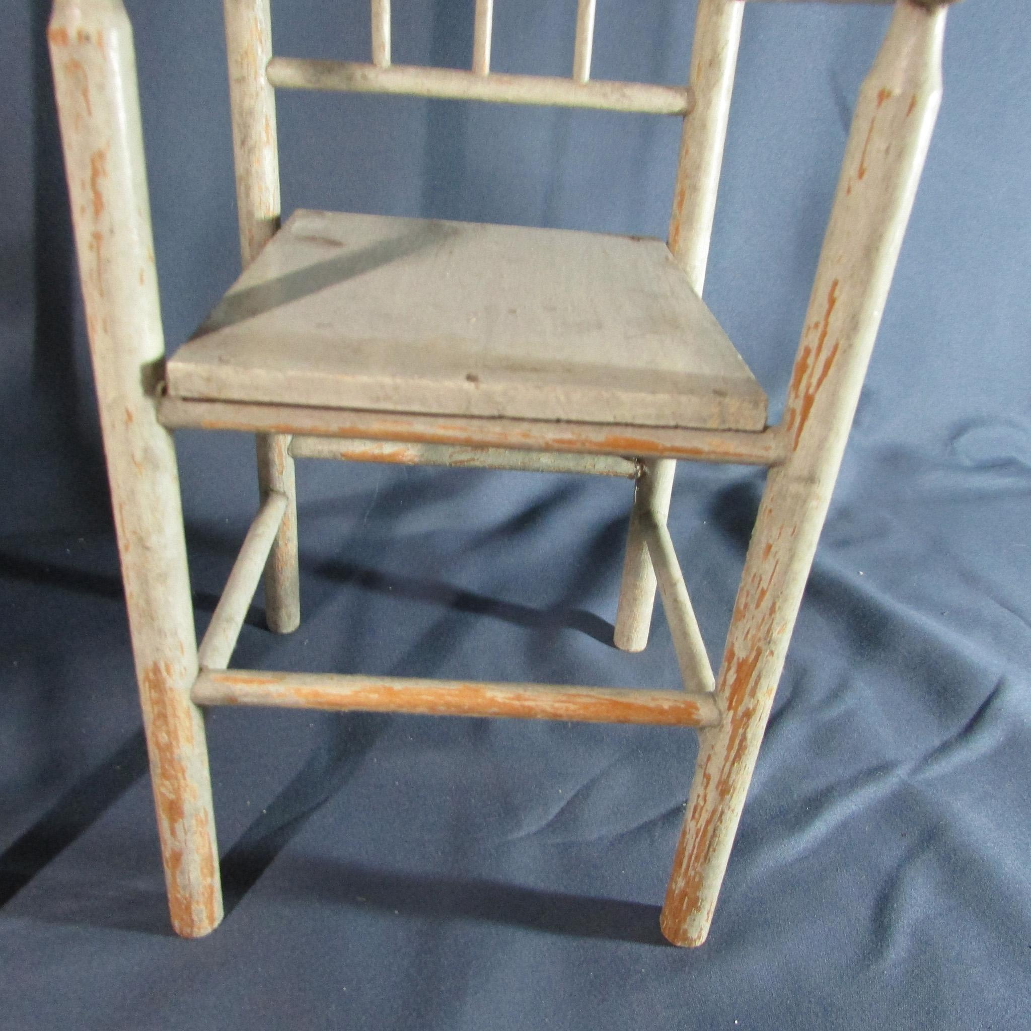 Two Wonderful Matching Antique Wooden Doll Arm Chairs From Laurel Ks . Full resolution‎  photograph, nominally Width 2048 Height 2048 pixels, photograph with #926239.