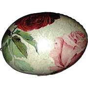 Nice Old Paper Easter Egg / Candy Container - Minor Damage