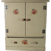 Vintage Two Door Doll Wardrobe With Drawer