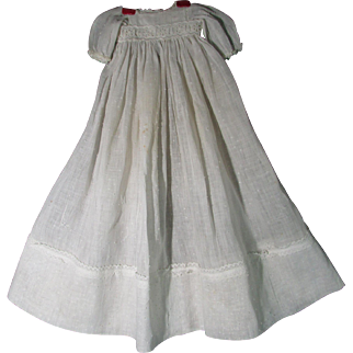 Lovely Antique Dotted Swiss Gown For Larger Doll