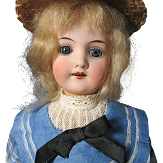 "Wonderful 12.5"" Cabinet Sized ""Seldom Seen"" L. Bierer German Bisque Head Doll"
