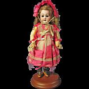 "Wonderful Cabinet Sized 8"" Carl Hartmann Globe Baby in Original Outfit"