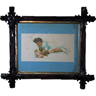 """The New Love"" By Bessie Pease Gutmann © Gutmann & Gutmann Nice Antique Frame Approximately 15"" By 13"""