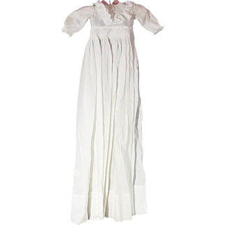 Nice Old White Lawn Christening Gown For Your Antique Doll