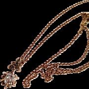 Antique Victorian .50 ct old cut diamond pendant