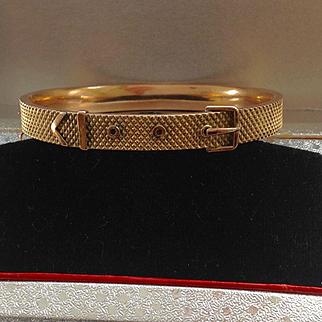 Antique Victorian 9ct English hinged buckle bracelet - gorgeous!