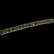 Vintage sterling Germany crystophase Marcasite bracelet