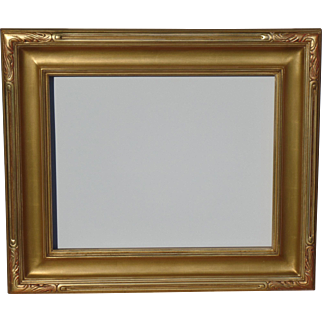 Hand carved gold metal leaf frame, seamless corners. Fits  20 x 24 painting