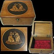 Antique Trinket / Jewelry Box: Italian Sorrento Ware. Inlaid