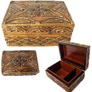 Florentine Box. Early Good Quality. Polished Wood Lining