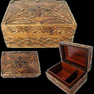 Florentine Box. Early Good Quality. Polished Wood Lining