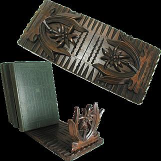 Antique Black Forest Book Slide