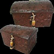 Antique Hand Carved Folk Art Box C19th