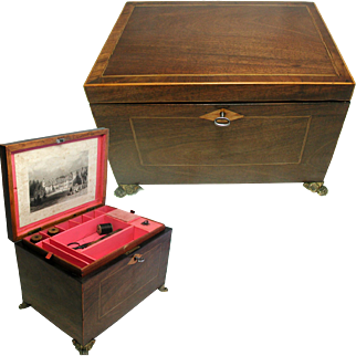 Georgian Sewing Box Circa.1790. English Neo-Classical