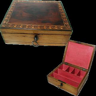 Antique Tunbridge Ware Box: English Georgian