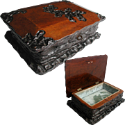 Antique Jewelry Box: Hand Made Folk Art