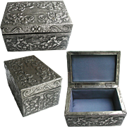 Arts and Crafts Pewter Jewellery Casket. Hand Made