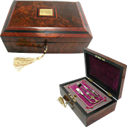 Antique Jewelry Box - Fitted Work Box