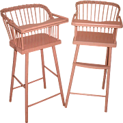 Pink Baby doll height chairs