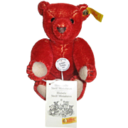 Steiff Teddy Red Mohair6""