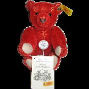 """Steiff Teddy Red Mohair6"""""""
