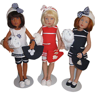 Helen Kish Beach dolls 10""