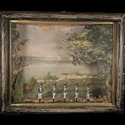 19th Century German Toy Soldier Diorama