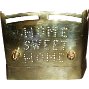 "Victorian ""Home Sweet Home"" Miniature Fireplace Fender Guard"