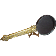 Victorian Magnifying Glass - Gothic decorated brass handle circa 1870