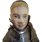 "SALE ""STEAL"" Joan of Arc Creche figure - late 18th century early 19th century"