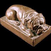 Late 19th Century Copper Bulldog Statue or Figure