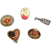 Vintage Maximal Art by John Wind Brooches
