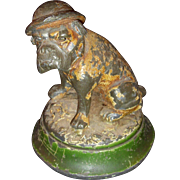 WWI Bulldog a little down on his luck - spelter figure