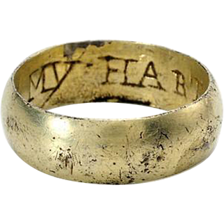 17th Century Stuart English Posy Ring - My Hart You Have