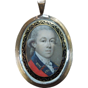 Antique Mourning Miniature Portrait circa 1775 Thomas Day